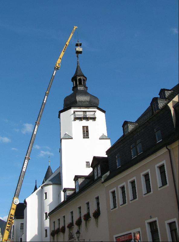 Kirchturm Kran