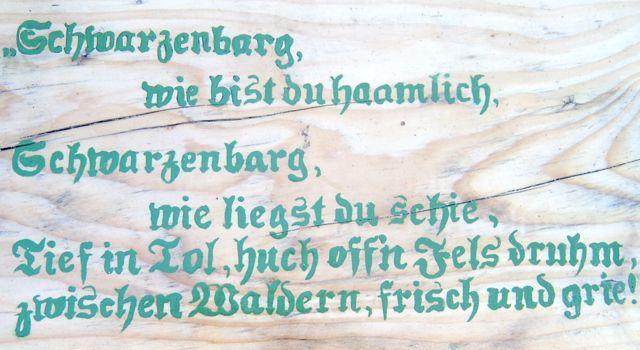Schwarzenberg wie bist du schie