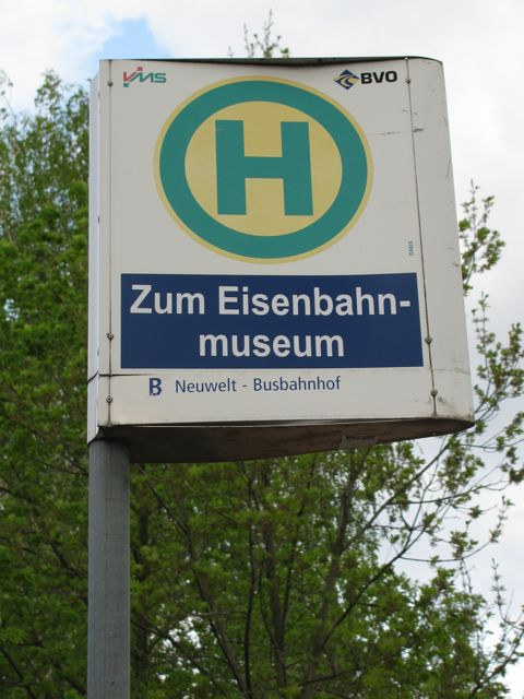 """Zum Eisenbahnmuseum"" Photo by Andrea Groh, all rights reserved"
