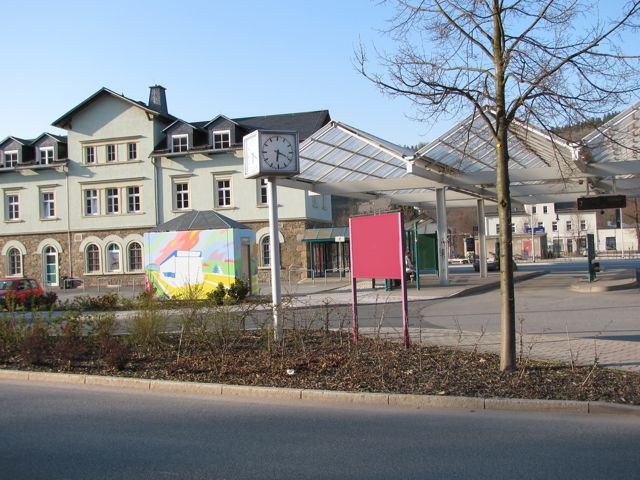 Kunstklo, Bahnhof Schwarzenberg