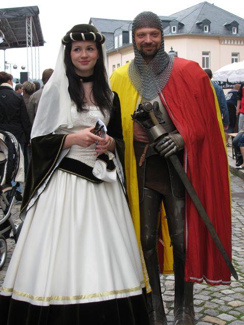 Ritter Georg und Burgfräulein Edelweiß, Foto von Andrea Groh