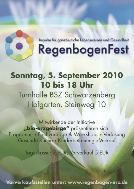 Plakat Regenbogenfest