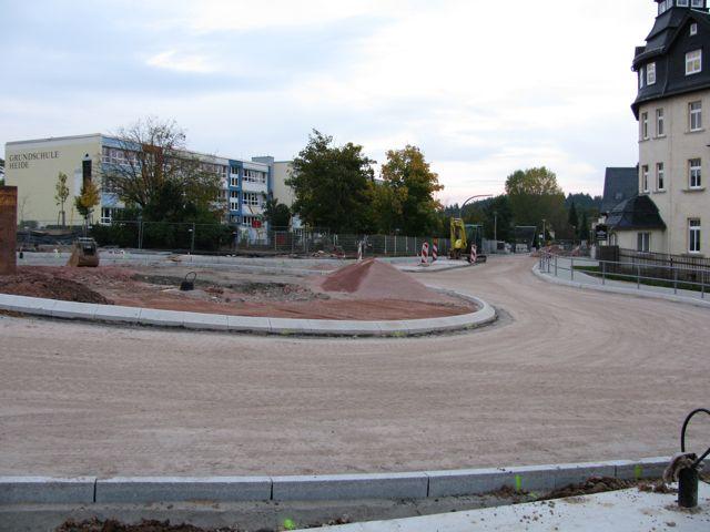 Bauarbeiten Kreisverkehr Heide