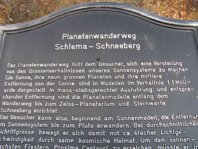 Planetenwanderweg Schlema - Schneeberg