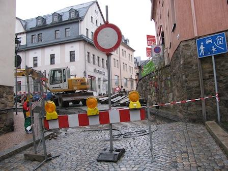 Baustelle Unteres Tor, Schwarzenberg Erzgebirge