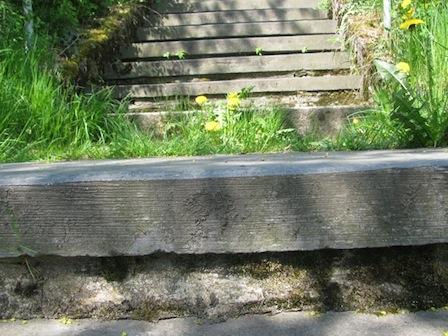 Treppe zum Totensteinpark hoch, Schwarzenberg, 1. Mai 2012