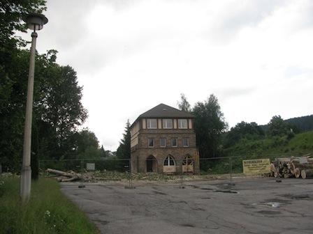 Schwarzenberg, Feuerwehr, B 101, Baustelle