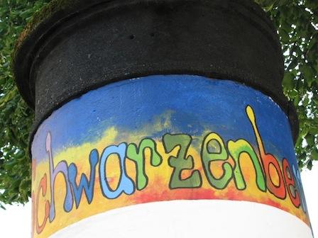Litfaßsäule Schwarzenberg Altstadt