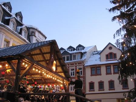 Bühne am Markt, Weihnachtsmarkt Schwarzenberg 2012