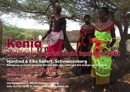 Reiseberichtabend Kenia mit Elke und Manfred Seifert, Schwarzenberg