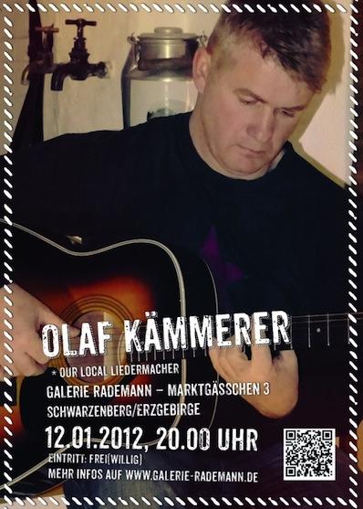 Olaf Kämmerer, am 12.1.2013 in der Galerie Rademann