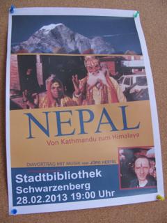 Diavortrag Nepal, mit Musik