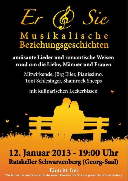 """Benefizkonzert """"Er & Sie"""", 12.1.2013 Ratskeller"""