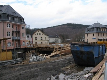 Baustelle Egermannbrücke Schwarzenberg