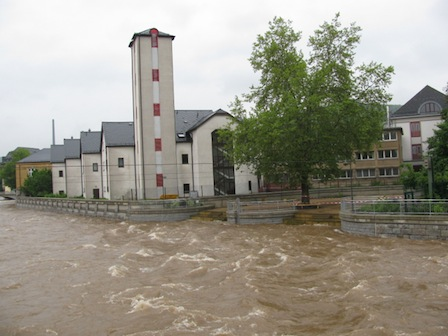 Aue Hochwasser
