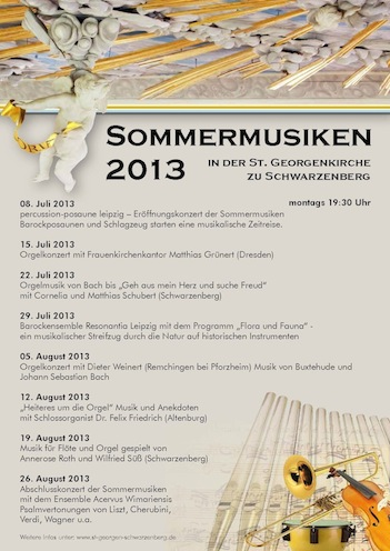 Plakat Sommermusiken 2013