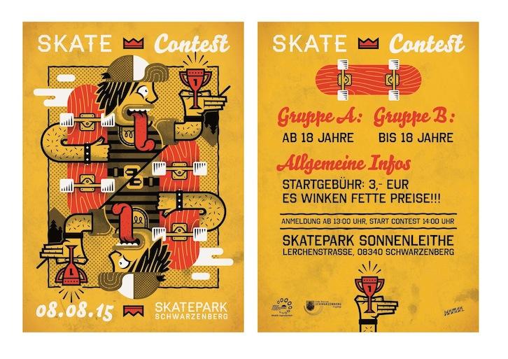 Aushang Skate Contest 2015