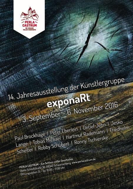 Plakat 14. Jahresausstellung exponaRt